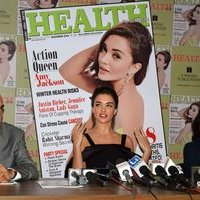 Amy Jackson during the Health and Nutrition magazine cover launch photos