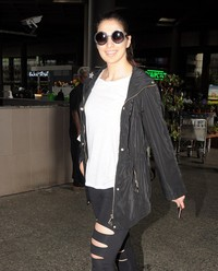 Raai Laxmi - Celebrities Spotted at Airport