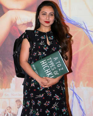 Photos: Rani Mukerji At Trailer Launch Of Film Hichki