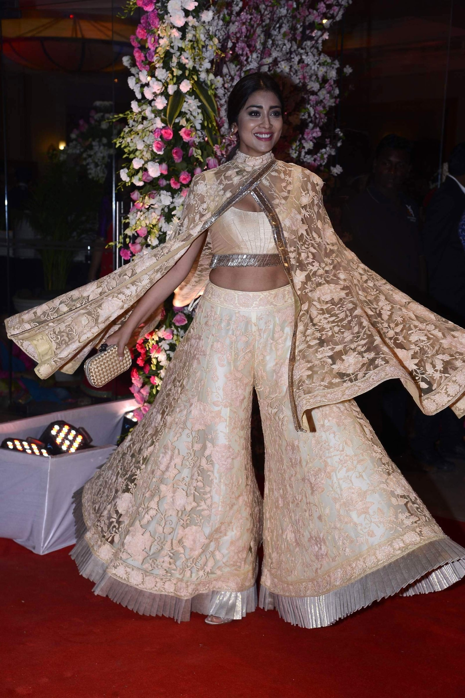 Shriya Saran @ Neil Nitin Mukesh and Rukmini Sahay Wedding Reception Images