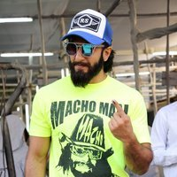 Ranveer Singh - Celebs Casting Their Votes In Bandra for BMC Elections 2017 Images