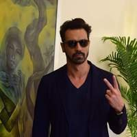 Arjun Rampal - Ajay Devgan and Arjun Rampal at Super Fight League Programme Photos