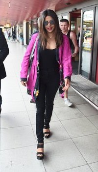 Priyanka Chopra arriving at Airport Berlin Tegel