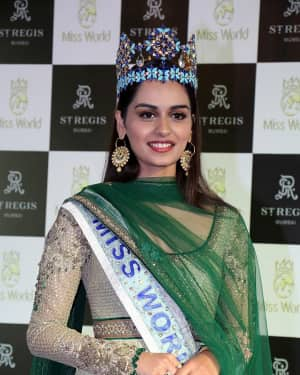 Photos: Manushi Chillar At The Press Conference For Winning Miss World Title