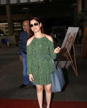 Tamannaah Bhatia Spotted At Mumbai Airport