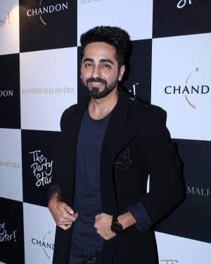 Ayushmann Khurrana - In Pics: Launch Of Manish Malhotra X Chandon Limited Edition End Of Year 2017 Bottles