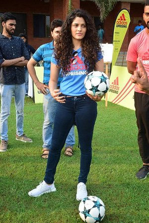 Saiyami Kher @ In Pics: Adidas Announce The Uprising 3.0