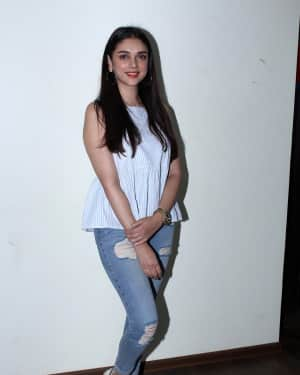 In Pics: Aditi Rao Hydari Spotted During Promotional Interview For Film Bhoomi