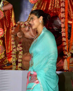 In Pics: Kajol Serve Bhog To All The Devotees Of Maa Durga