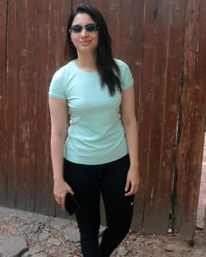 Photos: Tamanna Bhatia spotted post the rehearsal for IPL opening