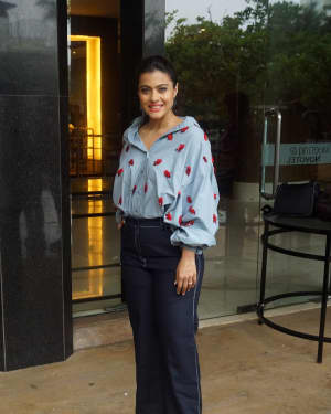 Photos: Kajol Spotted At Interview Of Helicopter Eela