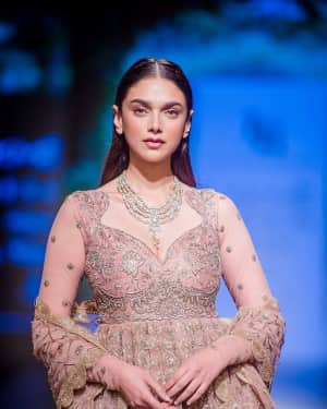 Photos: Aditi Rao Hydari at Lakme Fashion Show 2018