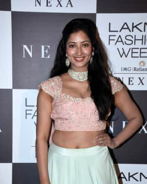 Photos: Niharica Raizada at Red Carpet Of Lakme Fashion Show 2018