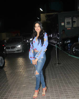 Jahnavi Kapoor - Photos: Screening of film Kedarnath at PVR
