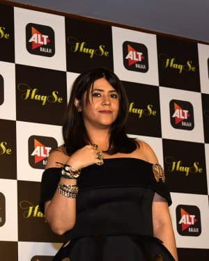 Ekta Kapoor - Photos: Trailer Launch Of ALTbalaji Web Series 'Haq Se'