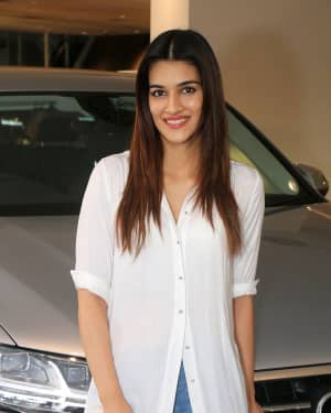 Photos: Kriti Sanon Taking The Delivery Of The Audi Q7