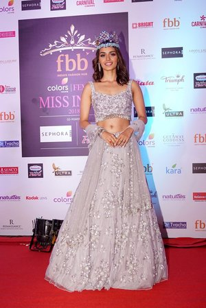 Manushi Chhillar @ Photos: Red Carpet Of Miss India Sub-Contest