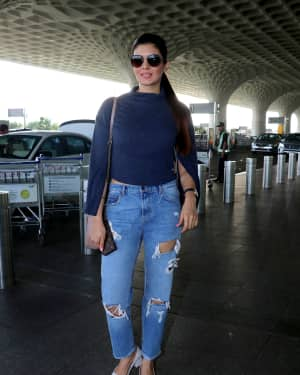Photos: Ihana Dhillon Spotted At Airport Travelling To Chandigarh