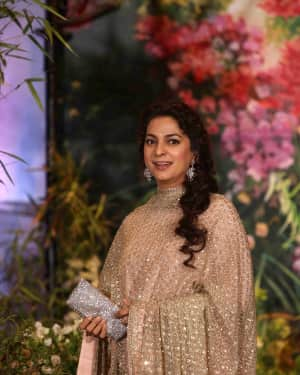 Juhi Chawla - Photos: Sonam Kapoor and Anand Ahuja Wedding Reception