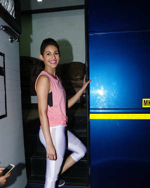 Photos: Amyra Dastur shoot for an ad at filmistan studio in Goregaon