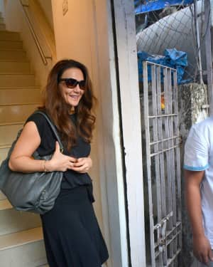 Photos: Priety Zinta Spotted at Salon in Bandra