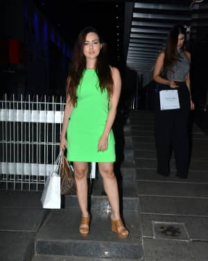 Photos: Sana khan Spotted at Hakkasan in Bandra
