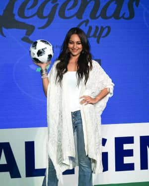 Photos: Sonakshi Sinha at the launch of india's largest corporate football tournament Legends Cup | 1603905