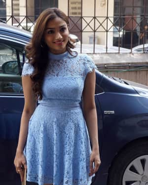 Photos: Aishwarya Devan Spotted At The Box Office India For The Promotion Of Film Kaashi