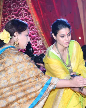 Kajol - Photos: Maha Panchami Puja & Murti Sthapana at North Bombay