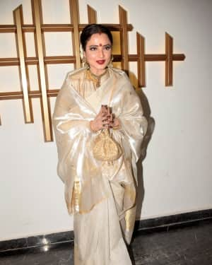 Rekha - Photos: Hema Malini Birthday Celebration