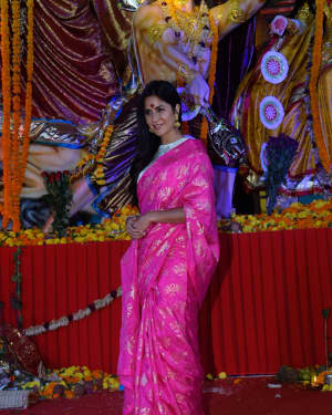 Katrina Kaif - Photos: Celebs At The North Bombay Sarbojanin Durga Puja