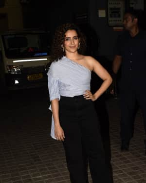 Sanya Malhotra - Photos: Screening of Badhai Ho