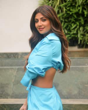 Photos: Shilpa Shetty Interacts Media for her web series Hear Me Love Me