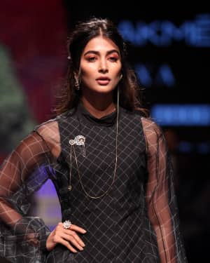 Photos: Pooja Hegde Walks Ramp at Lakme Fashion Week 2019