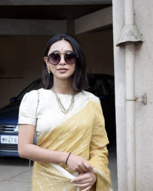 Sayani Gupta - Photos: Sarswati Puja at Anurag Basu's House