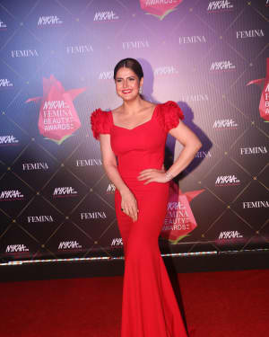 Zareen Khan - Photos: Nykaa Femina Beauty Awards 2019