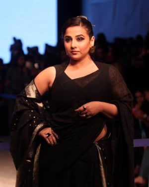 Vidya Balan - Anavila Fashion Show - Lakme Fashion Week 2019 Day 3