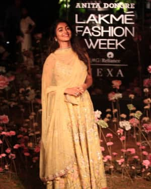 Pooja Hegde - Anita Dongre Fashion Show - Lakme Fashion Week 2019 Day 2