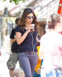 Priyanka Chopra during 'A Kid Like Jake' Filming in Brookyn