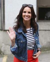 Andrea McLean - Celebrities at the ITV Studios