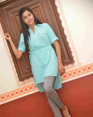 Actress Akshatha Srinivas Stills at Parasanga Film Press Meet