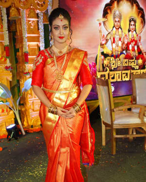 Nisha (Kannada Actress) - Zee Tv's Shree Vishnu Dashavatara Press Meet Photos