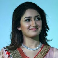 Actress Sayyeshaa Stills at Vanamagan Audio Launch