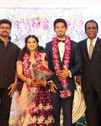 Vijay - Actor Vishal's Sister Aishwarya Wedding Reception Photos