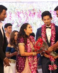 Vijay - Actor Vishal's Sister Aishwarya Wedding Reception Photos | Picture 1524157