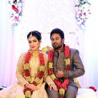 Karthik and Satna Titus Wedding Reception Stills