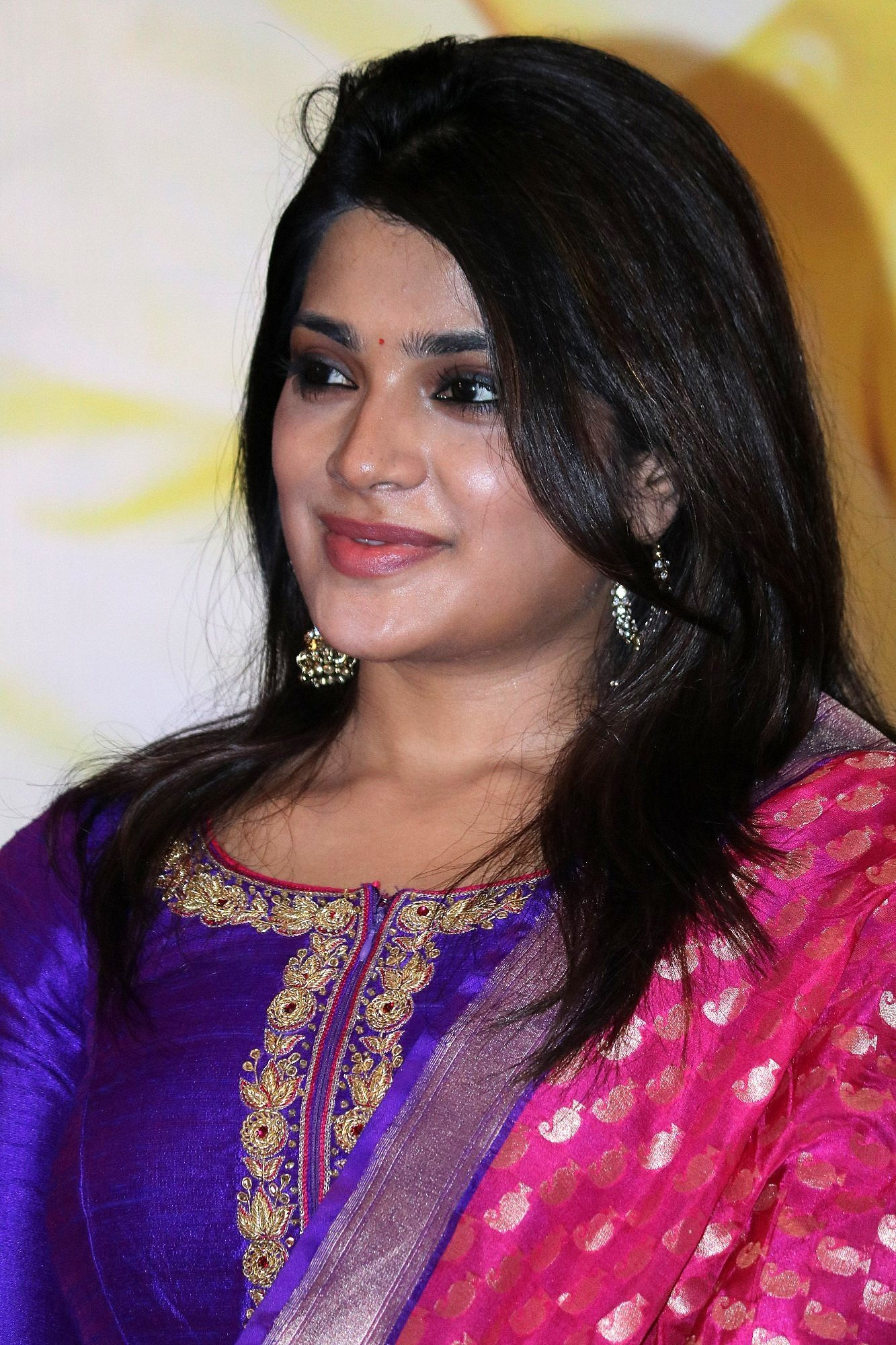 Aathmika at Meesaya Murukku Success Meet