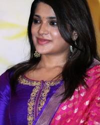 Aathmika at Meesaya Murukku Success Meet