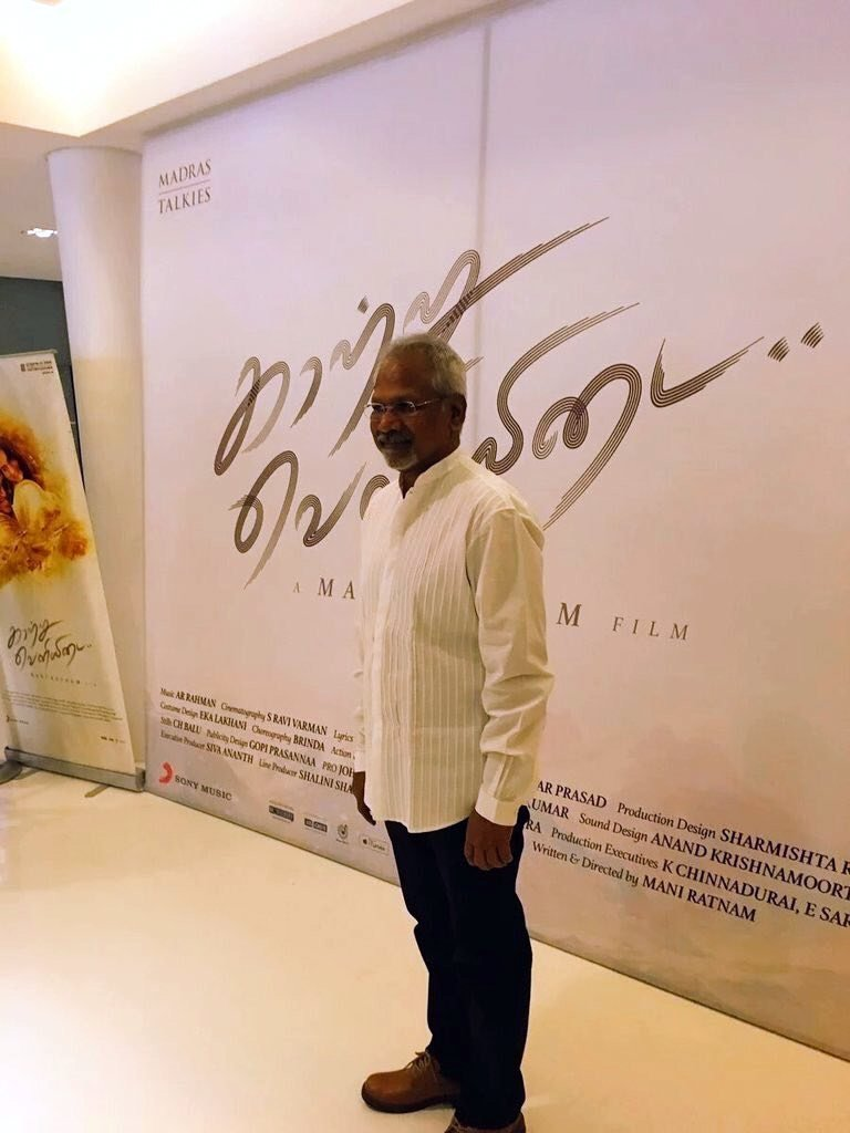 Mani Ratnam (Director) @ Kaatru Veliyidai Movie Audio Launch Stills