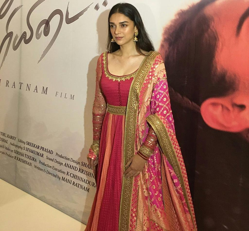 Aditi Rao Hydari @ Kaatru Veliyidai Movie Audio Launch Stills